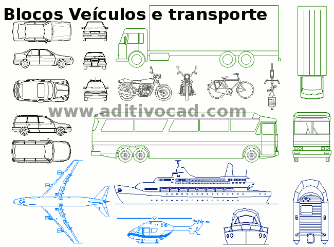 Blocos Cad Dwg Automoveis Para Autocad Download Aditivocad Com
